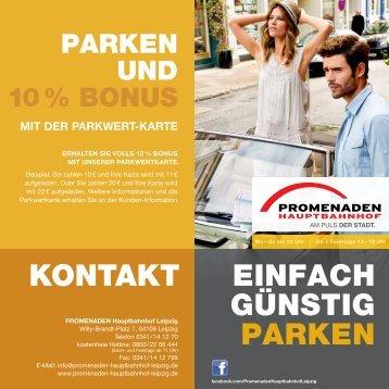 einfach günstig parken kontakt - Promenaden Hauptbahnhof, Leipzig