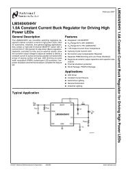 LM3404/04HV 1.0A Constant Current Buck Regulator for Driving ...