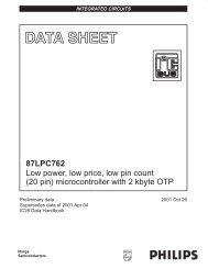 87LPC762 - NXP Semiconductors
