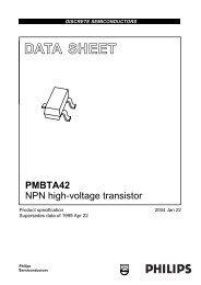 PMBTA42 NPN high-voltage transistor