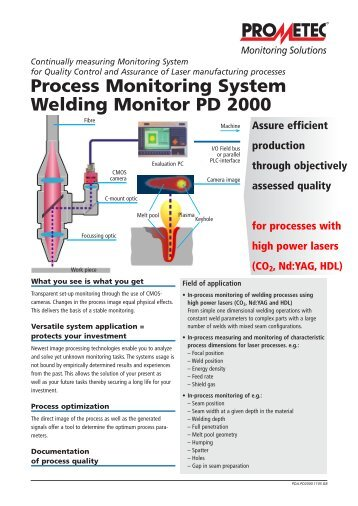 Process Monitoring System : A cmos camera as tool for process analysis not only