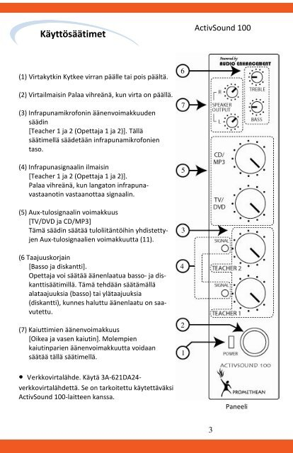 Promethean Instruction MASTER PROOF Feb 2009_Finnish