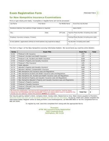 Exam Registration Form Pennsylvania Motor Vehicle ... - Prometric