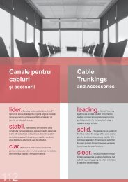Canale pentru cabluri Cable Trunkings leading. Univolt® trunking
