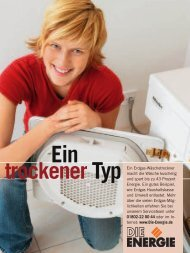 Ein Erdgas-Wäschetrockner macht die Wäsche kuschelig ... - Energie