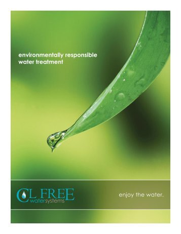 environmentally responsible water treatment - Promolife