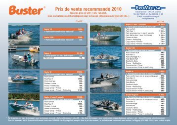Liste de prix Buster 2010 (pdf)