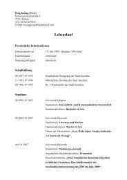 Lebenslauf - Universität Bayreuth