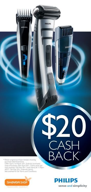 CASH BACK* - Philips Promotions