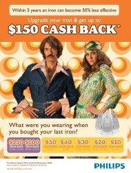 150 CASH BACK - Philips Promotions