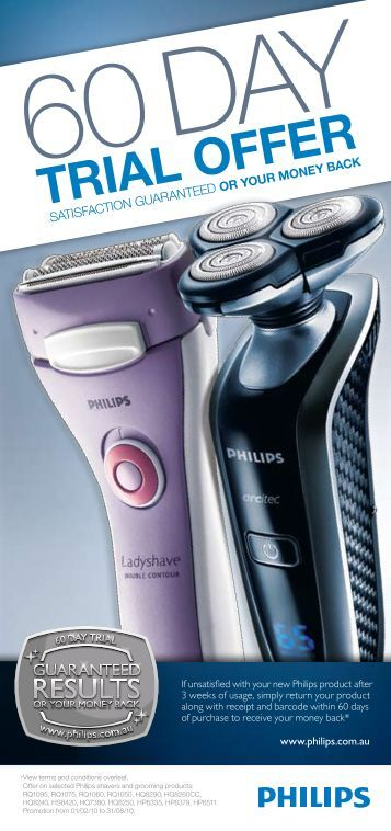 3 Weeks Of Usage, Simply Return Your Product - Philips Promotions
