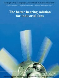 The better bearing solution for industrial fans