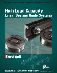 Linear Bearing Systems to 1.8 US Ton-Force