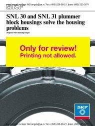 SNL 30 and SNL 31 plummer block housings solve the housing ...