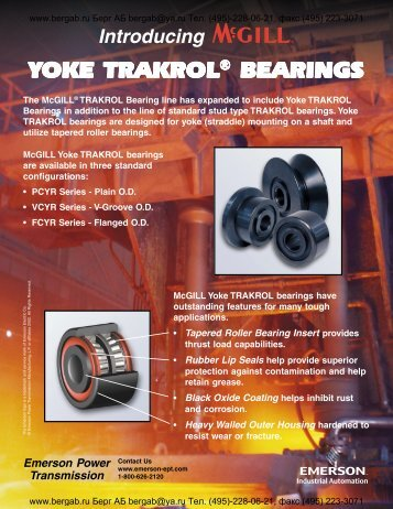 McGill Yoke TRAKROL Bearings