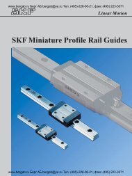 Linear Motion SKF Miniature Profile Rail Guides