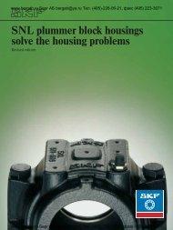 SNL plummer block housings solve the housing problems