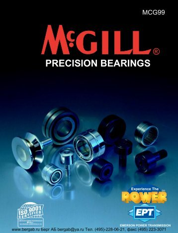 McGill Precision Bearings Full Line
