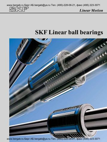 SKF Linear ball bearings
