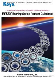 EXSEV Bearing Series Product Guidebook
