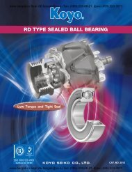 RD TYPE SEALED BALL BEARING