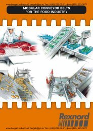 MODULAR CONVEYOR BELTS FOR THE FOOD INDUSTRY