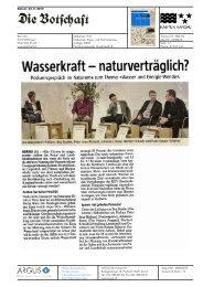 Wasserkraft naturverträglich? - Pro Natura Aargau
