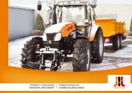 product catalogue municipal machinery produktkatalog ... - Pronar