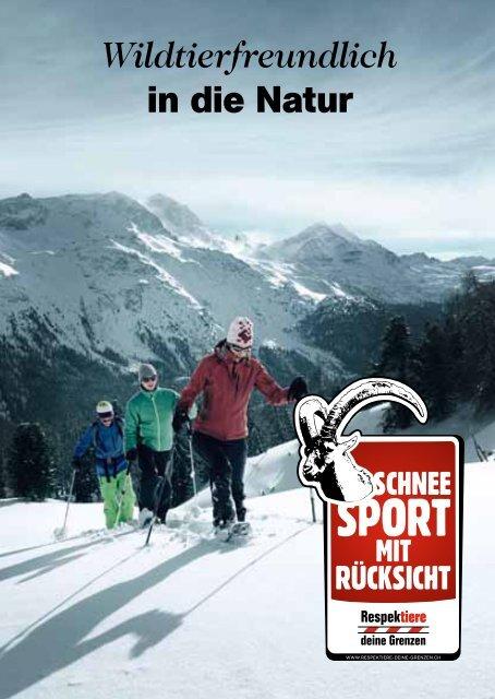 Wildtierfreundlich in die Natur - Schneeschuhtouren - Pro Natura