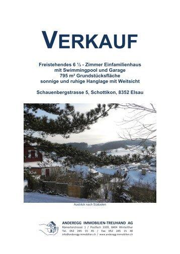 Pendenzen Abgabe Stähli / Neu Krause - Anderegg Immobilien