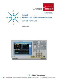 Agilent E5072A ENA Series Network Analyzer - datatec Gmbh