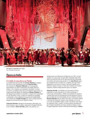 Ópera en Italia - Pro Ópera
