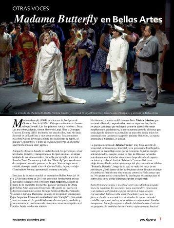 Madama Butterfly en Bellas Artes - Pro Ópera