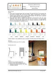 Frame 1. Legs made in  extruded tubular steel, and ... - ArBe Design