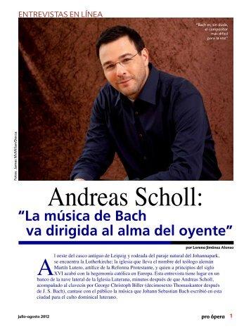Andreas Scholl: - Pro Ópera