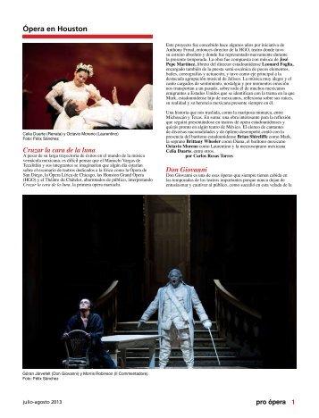 Ópera en Houston - Pro Ópera