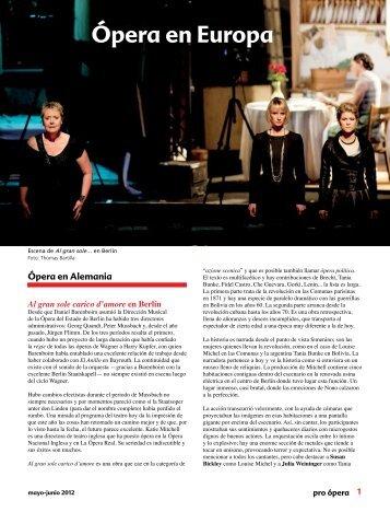 Ópera en Europa - Pro Ópera