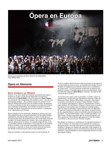Ópera en Alemania - Pro Ópera