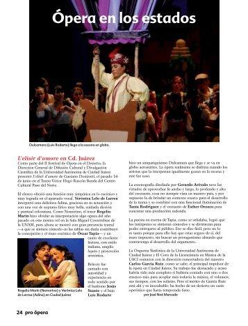 Ópera en los estados - Pro Ópera