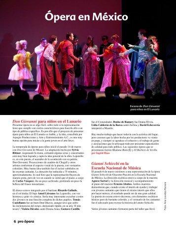 Ópera en México - Pro Ópera