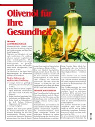 Olivenöl für Ihre Gesundheit - Pro Patient online