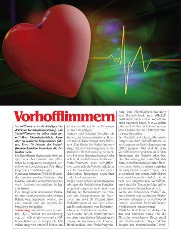 Vorhofflimmern - Pro Patient online