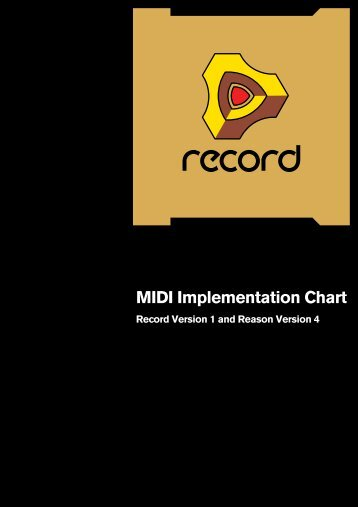Record MIDI Implementation Charts - Propellerhead