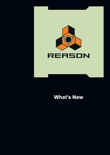 Whats new in Reason 4.fm - Propellerhead