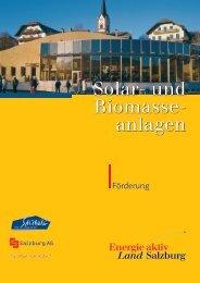 Förderungen für thermische Solaranlagen und Biomasseanlagen in ...