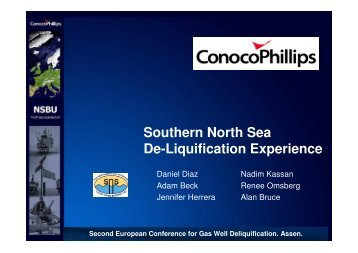 ConocoPhillips (UK) Experience with De-Watering Wells - ALRDC
