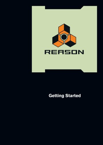 Reason Getting Started - Propellerhead