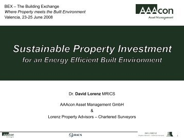 Sustainable Property Investment for an Energy Efficient Built ...