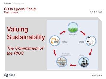 Valuing Sustainability - Dr. Lorenz Property Advisors