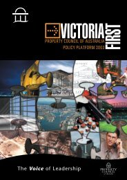 victoria first - Property Council of Australia
